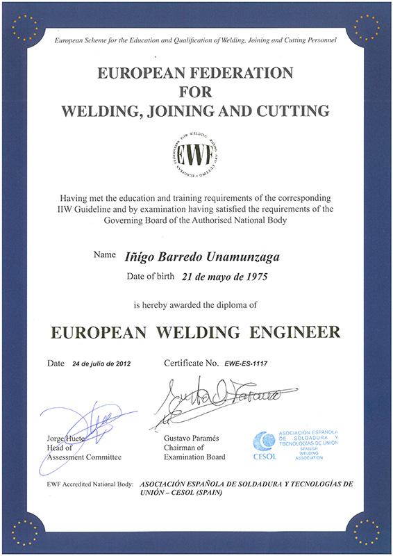 Certificado WEF